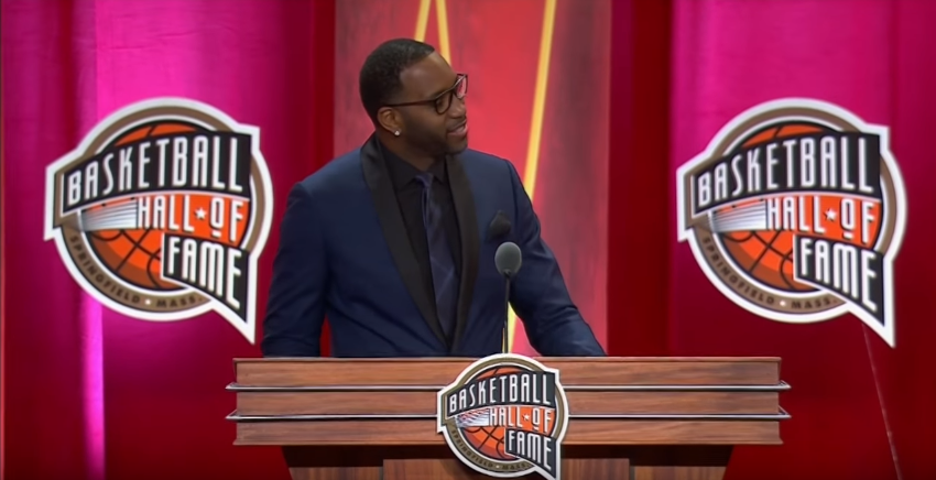 Tracy McGrady diventa un Hall of Famer (foto da: youtube.com)