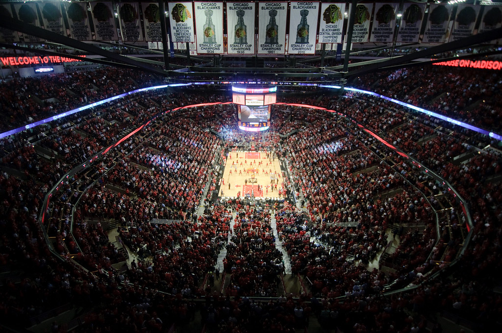 Lo United Center di Chicago, sede dell'NBA All-Star Game 2020 (foto da: flickr.com)